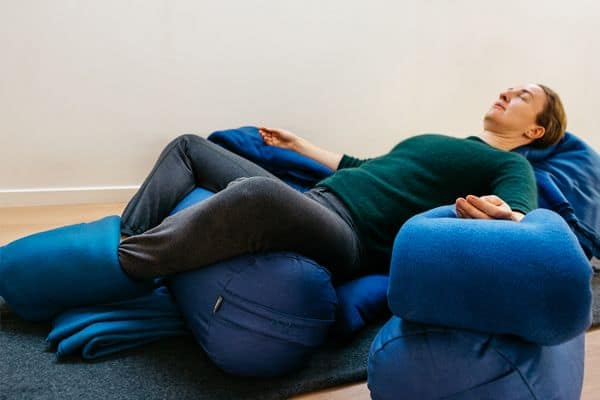 Restorative Yoga Teacher Training, Supported Childs Pose