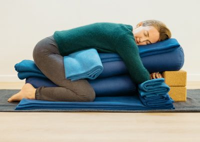 Karla Brodie, Restorative Yoga Teacher Training, Auckland, New Zealand - Supported Child's Pose