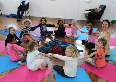 Michaela Sangl, Teaching Yoga To Children at Contemporary Yoga