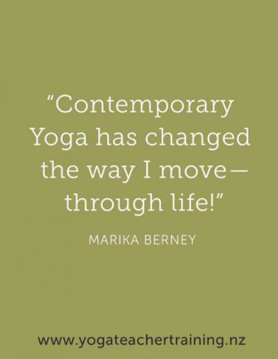 Contemporary Yoga has changed the way I move