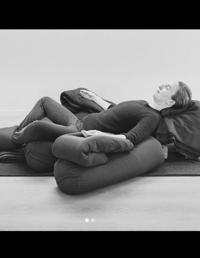 Karla, Brodies, Contemporary Yoga Teacher Training, Supported Reclined Bound Angle Restorative Yoga