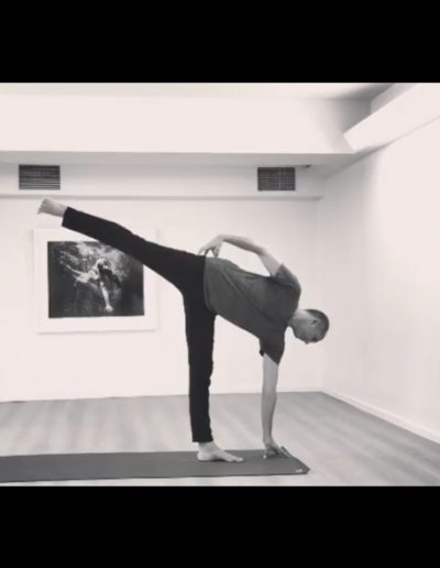 Neal Ghoshal, Contemporary Yoga Teacher Training, Half Moon Pose