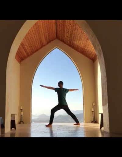 Neal Ghoshal, Contemporary Yoga Teacher Training, Warrior Two at Mana Retreat